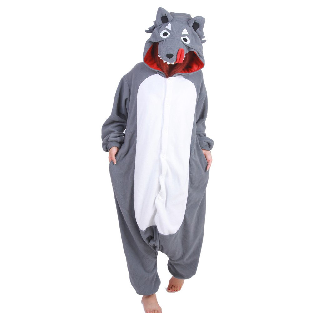 Cartoon Pajamas Costume Cosplay Wolf Lounge Wear