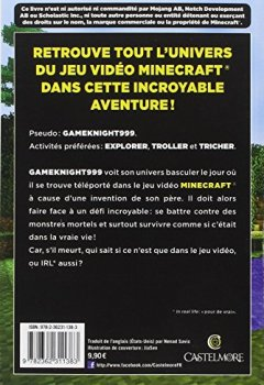 Livres Couvertures de Minecraft - Les Aventures de Gameknight999, T1 : L'Invasion de l'Overworld
