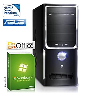 CSL Speed H4186 - Pentium 2x 3400 MHz, 4GB RAM, 500GB HDD, GMA X4500, DVD-RW, Gigabit LAN, Win7HP, Office 2010