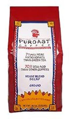 Puroast Low Acid Coffee House Blend Natural Decaf Drip Grind, 2.5-Pound Bag