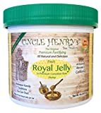 """#1 Premium FRESH ROYAL JELLY in Canadian Raw Honey. Big 1lb Artisanal Product of California, Beekeeper Family Traditions. Best Tasting. The Original Green Lid Mix. """"You'll Love it"""" Henry's Guarantee"""