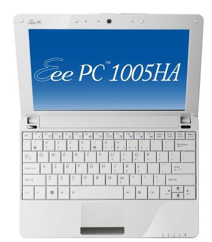ASUS EeePC 1005HAシリーズ 10inchワイドTFTカラー液晶 ホワイト EEEPC1005HA-WHI156
