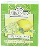 Ahmad Tea Lemon & Lime Black Tea, 10-Count Boxes (Pack of 12)