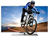 Philips 55PFL7007K/12 140 cm (55 Zoll) Ambilight 3D LED-Backlight-Fernseher, Energieeffizienzklasse A+  (Full-HD, 800 Hz PMR, DVB-T/C/S2, CI+, WiFi, Smart TV) silber