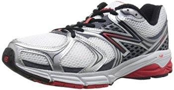 New Balance Men's M940V2 Running Shoe, Silver/Red, 12.5 D US