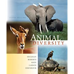 Our textbook, Animal Diversity, by Hickman, et al