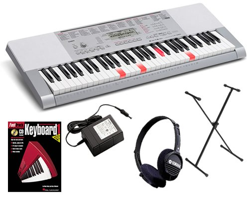 Casio LK-280 Lighted Keyboard ESSENTIALS BUNDLE w/ Stand & Headphones