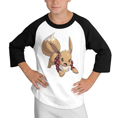 Bajan-Canadian-Eevee-34-Sleeve-Contrast-Jersey-Baseball-Tee-Small-For-Youth