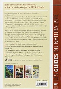 Livres Couvertures de Guide des fonds marins de Méditerranée : Ecologie, flore, faune, plongées