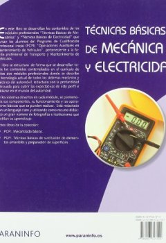 Portada del libro deTécnicas básicas de mecánica y electricidad