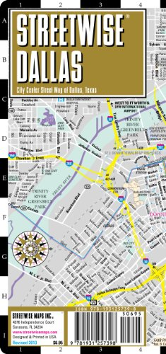 Streetwise Dallas Map - Laminated City Center Street Map of