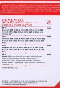 Livres Couvertures de Scarlatti : Sonates pour clavier (Coffret 4 CD)