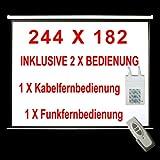 MOTOR LEINWAND INKL. FFB - BEAMER HEIMKINO BEAMERLEINWAND 244X182CM - 16:9 / 4:3