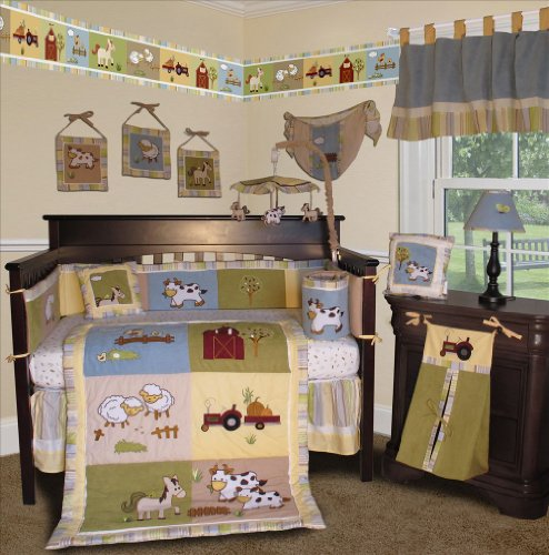SISI Baby Boy Boutique - On the Farm 15 PCS Crib Bedding