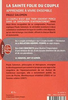 Livres Couvertures de La Sainte Folie du couple