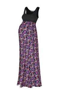 Beachcoco-Womens-Maternity-Sleeveless-Maxi-Empire-Waist-Printed-Tank-Dress
