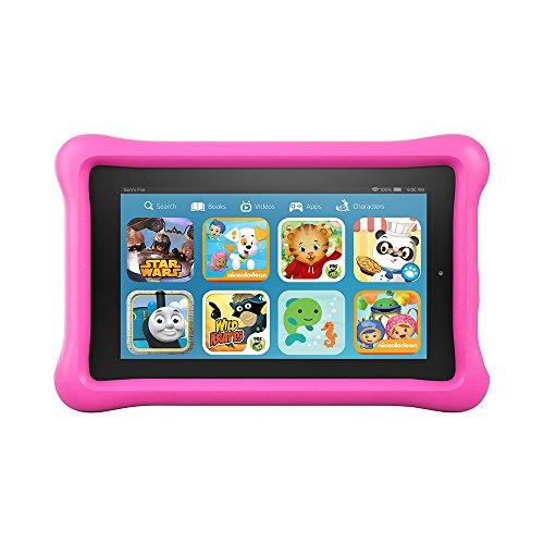 "Fire Kids Edition, 7"" Display, Wi-Fi, 8 GB, Pink Kid-Proof Case"