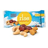 Rise Bar Non-GMO, Gluten-Free Breakfast Bars, Crunchy Cashew Almond, 12-Count