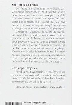 Livres Couvertures de Souffrance en France. La banalisation de l'injusti