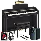 Casio AP-420 Digital Piano (Black) BUNDLE+ w/ Subwoofer, Bench & Lamp