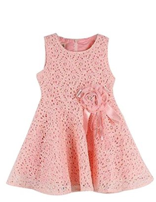 Amoin-Kids-Toddlers-Girls-Princess-Party-Flower-Solid-Lace-Formal-Dress