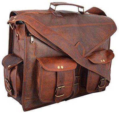 Handmadecraft-ABB-18-Inch-Vintage-Handmade-Leather-Messenger-Bag-for-Laptop-Briefcase-Satchel-Bag