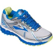 Brooks Women's Adrenaline Gts 15 Running Shoe (White/Medium Blue, 6 B)