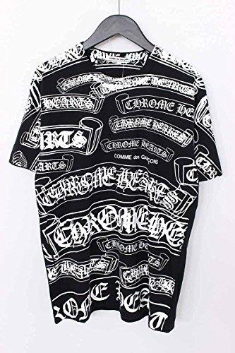 (クロムハーツ)Chrome Hearts ×コムデギャルソン 総柄マルチプリントTシャツ(M/ブラック×ホワイト)