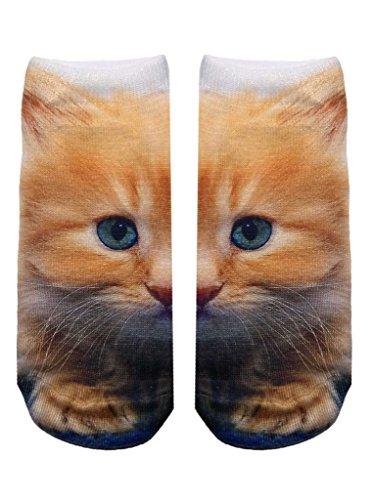 Living Royal Photo Sublimation Ankle Socks - Kitty Eyes