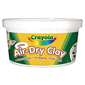 Crayola Air Dry Clay 2.5 Lb Bucket, White