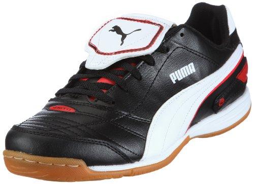Puma Esito Finale IT 102012, Herren, Sportschuhe - Fußball, Schwarz (black-white-puma red 03), EU 42 (UK 8) (US 9)