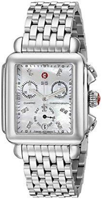 MICHELE-Womens-MWW06P000014-Deco-Analog-Display-Swiss-Quartz-Silver-Watch