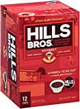 Hills Bros Coffee Gourmet Medium Roast, 12 Single Serve Cups, 3.8 Ounce