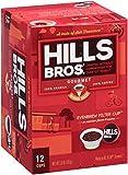 Hills Bros Coffee Gourmet Medium Roast, 12 Single Serve Cups, 3.8 Ounce