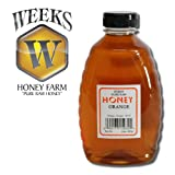 16oz (1lb) - Orange Blossom Honey - Pure, Raw, Unfiltered, Unheated