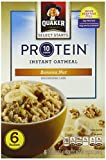 Quaker Protein Instant Oatmeal, Banana Nut, 2.15 oz, 6 count