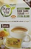 Pure Via All Natural Stevia and Turbinado Raw Cane Sugar Blend Packets (Pack of 2)