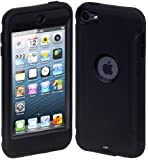 Cimo ArmorGuard Series Case for Apple iPod Touch 5 with Built-in Screen Protector - Black