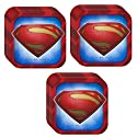 Man of Steel Superman Dinner Plates - 24 Pieces by Hallmark