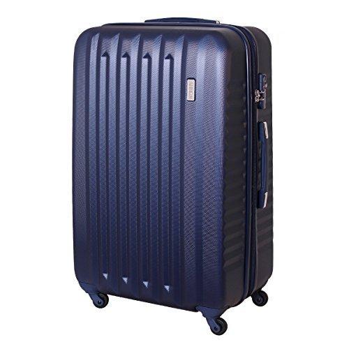 XXL Karry Hartschalen Koffer Reisekoffer Trolley TSA Zahlenschloss Reise 100 Liter Dunkel Blau 811 B