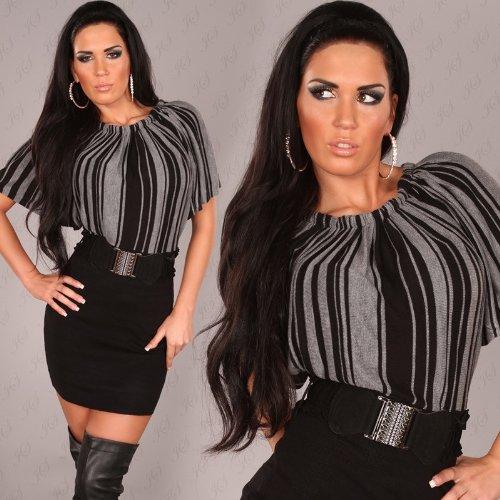 Elegantes Strick-Minikleid mit Taillengürtel