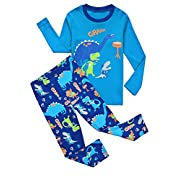 Babypajama Little Boys Dinosaur Pajama Set 2 Piece T-Shirt & Pants Size 5 Years