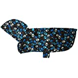 RC Pet Products Packable Dog Rain Poncho, Pitter Patter Chocolate, X-Large