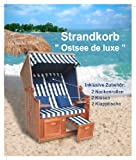 Strandkorb Ostsee de Luxe blau Kariert
