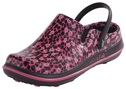 Cherokee Women's Alexis Work Shoe, Pink Not Heart to Find Print, 11 M US