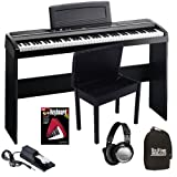 Korg SP-170s Black Digital Piano COMPLETE BUNDLE w/ Wood Bench & Stand