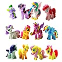 Win8Fong NEW My Little Pony Cake Toppers Cupcake 12 piece Set Toys Figurines Playset