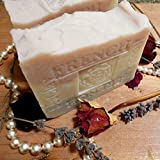 Handmade Provence Lavender Jasmine Grandiflorum Bar Soap with Sea and Rose Clay ...Face and Body Bar Soap