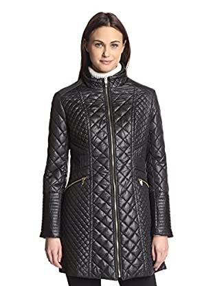 Via Spiga Women's Quilted Zip-Front Jacket (Black)