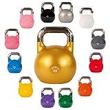 Kettlebell professionale 4 kg, 6 kg, 8 kg, 12 kg, 16 kg, 20 kg, 24 kg, 28 kg - Kettlebell da competizione (28 kg Arancione)